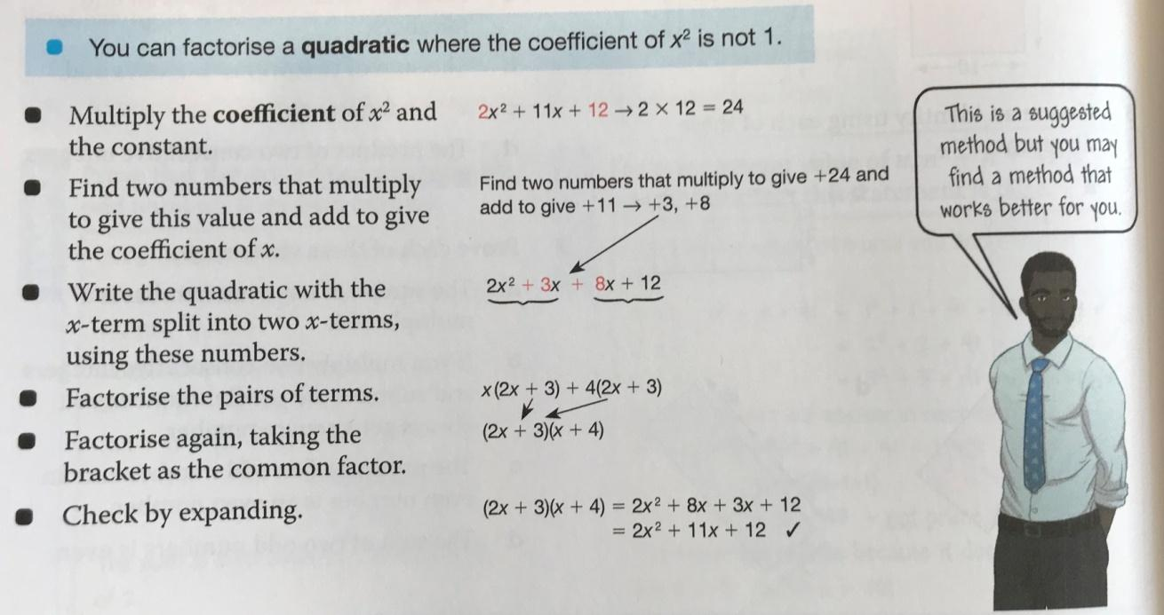 Blog Electricity Quizzes And Revision Notes For Key Stage 3 Gcse Two The Grouping Method Explained In A Maths Textbook Published By Oup 2016